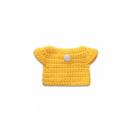 gele jurk handmade