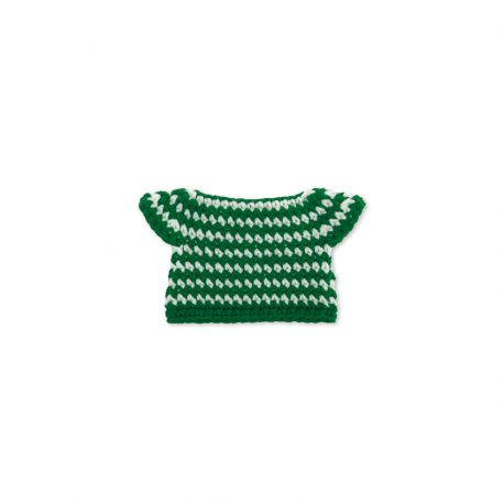 groene streepjesjurk handmade