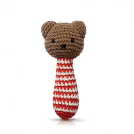 boris handmade rode streepjes rammelaar