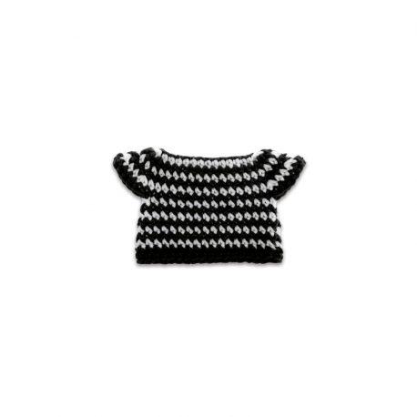 zwarte streepjesjurk handmade